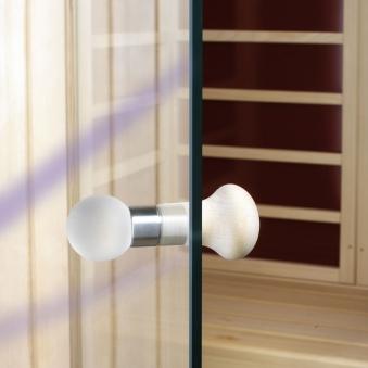 Türknauf Set Glas / Holz für Eliga Sauna Tür Bild 1
