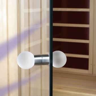 Türknauf Set für Eliga Dampfbad aus Glas doppelseitig Bild 1