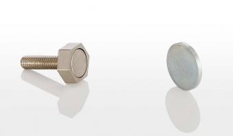 Türmagnet 15mm 95 N für Sauna mit Haftblech rechteckig Bild 1