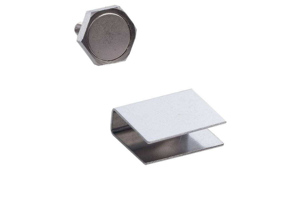 Türmagnet 22mm 95 N für Sauna mit U-Haftblech für Glastüren 10mm Bild 1