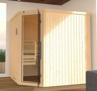 Weka Gartensauna / Design Saunahaus 45mm Cubilis ohne Saunaofen Bild 3