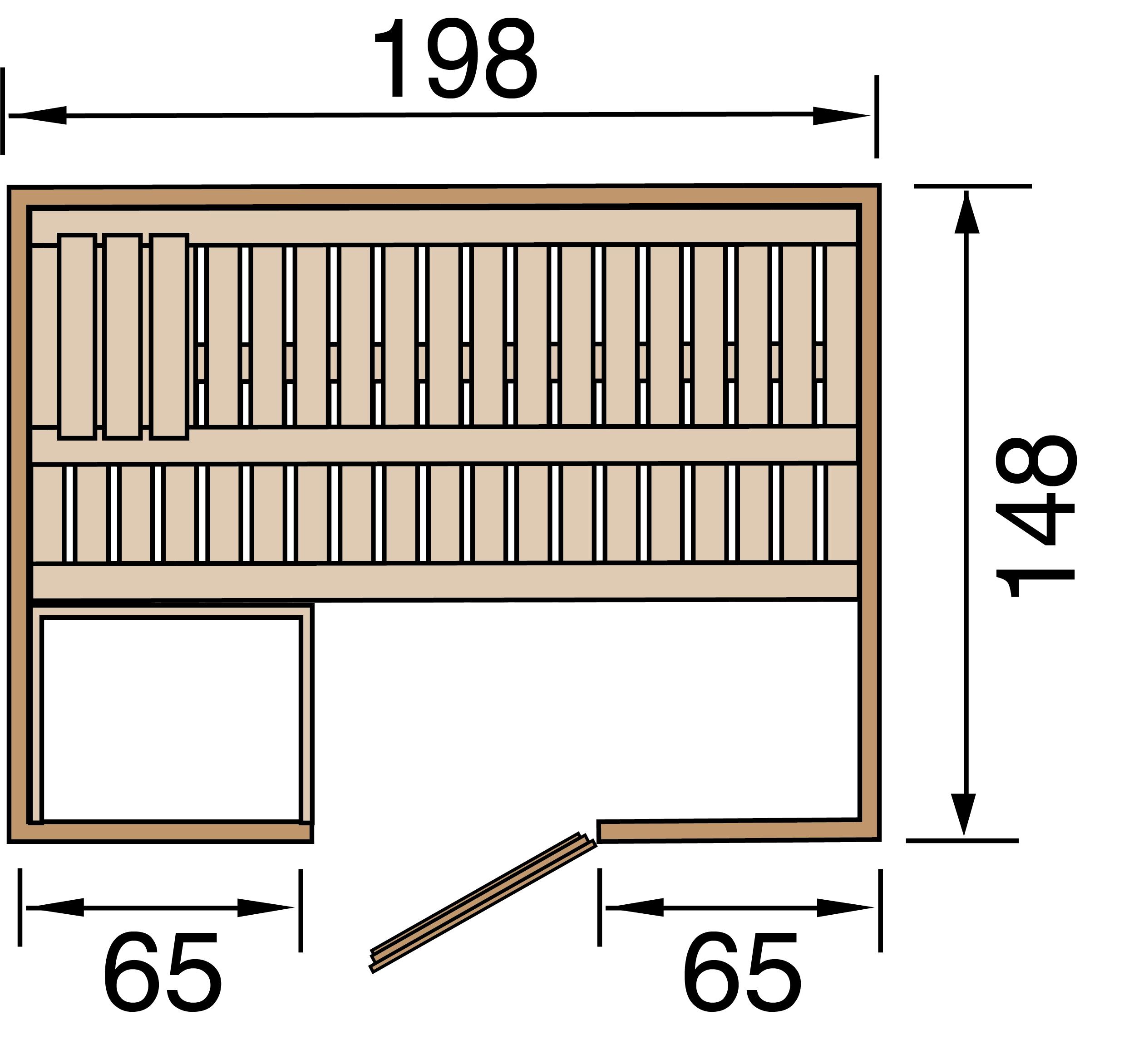Weka Sauna Bergen 1 45mm mit Glastür + Fenster Bild 2