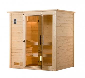 Weka Sauna Bergen 1 45mm mit Glastür + Fenster Bild 1