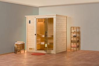 Weka Sauna Bergen 1 45mm mit Glastür + Fenster Bild 4