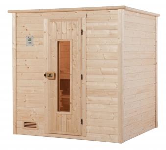 Weka Sauna Bergen 1 45mm ohne Ofen mit Holztür Bild 1