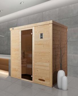 Weka Sauna Kemi 3 45mm ohne Saunaofen Glastür Bild 1