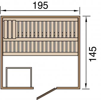 Weka Sauna Kemi 3 45mm ohne Saunaofen Glastür Bild 3