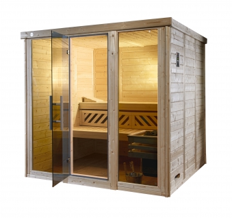 Weka Sauna Kemi Panorama 2 45mm Saunaofen Bio 7,5kW FarbvisionenSetA Bild 6
