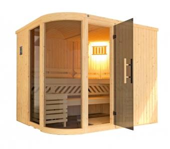 Weka Sauna Sara 2 Set 68mm + Saunaofen 9kW extern + Glastür + Fenster Bild 3
