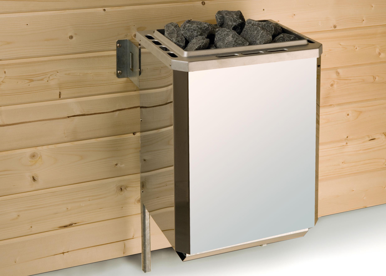 Weka Sauna Turku 1 Set 1 45mm Saunaofen 7,5kW PremiumGlastür + Fenster Bild 3