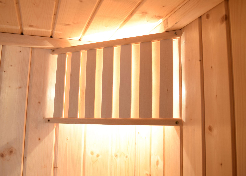 Weka Sauna Turku 1 Set 1 45mm Saunaofen 7,5kW PremiumGlastür + Fenster Bild 4