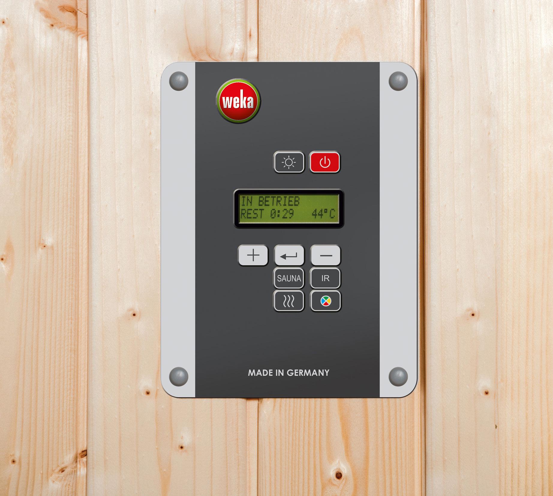 Weka Sauna Turku 1 Set 1 45mm Saunaofen 7,5kW PremiumGlastür + Fenster Bild 6