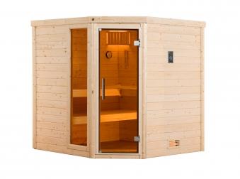 Weka Sauna Turku 1 Set 1 45mm Saunaofen 7,5kW PremiumGlastür + Fenster Bild 8