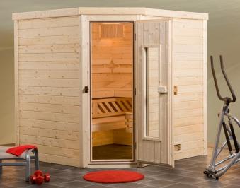 Weka Sauna Turku 2 HT 45 mm ohne Ofen mit Holztür Bild 1
