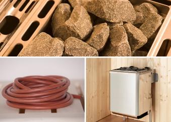 Weka Saunaofen Set 11 Kompakt 9kW mit integrierter Steuerung