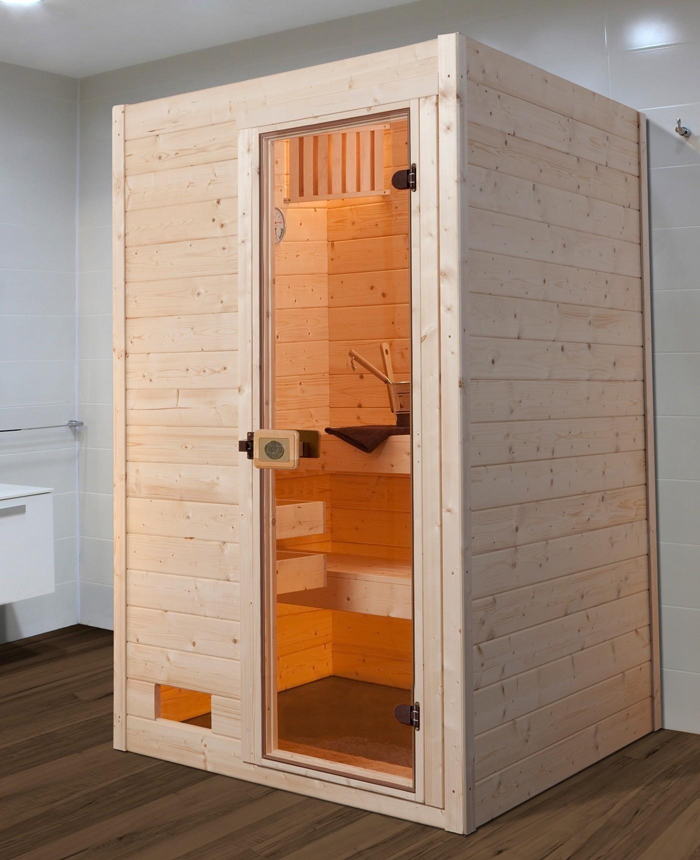 Weka Sauna Valida 1 38mm ohne Saunaofen mit Glastür Bild 1