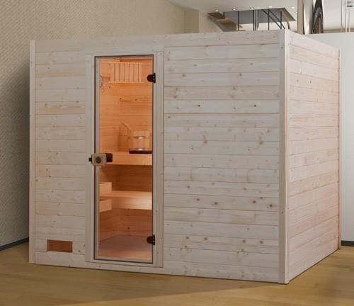Weka Sauna Valida 4  38mm ohne Saunaofen mit Glastür Bild 1
