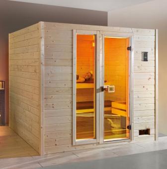 Weka Sauna Valida Plus 38mm Saunaofen Kompakt 9kW + Leuchtenset Glast. Bild 1