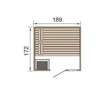Weka Sauna Valida Plus 38mm Saunaofen Kompakt 9kW + Leuchtenset Glast. Bild 2