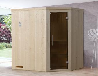 Weka Sauna Varberg 1 68mm ohne Saunaofen mit Glastür Bild 1