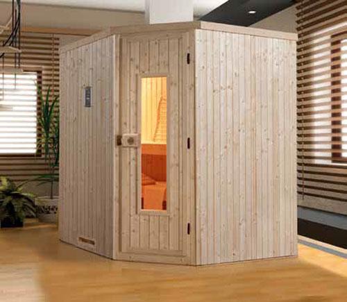 Weka Sauna Varberg 1 68mm ohne Saunaofen mit Holztür Bild 1