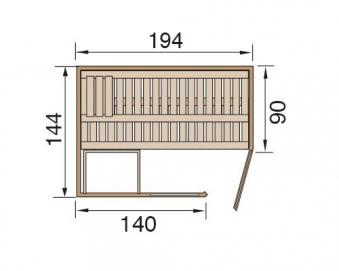 Weka Sauna Varberg 1 68mm ohne Saunaofen mit Holztür Bild 2