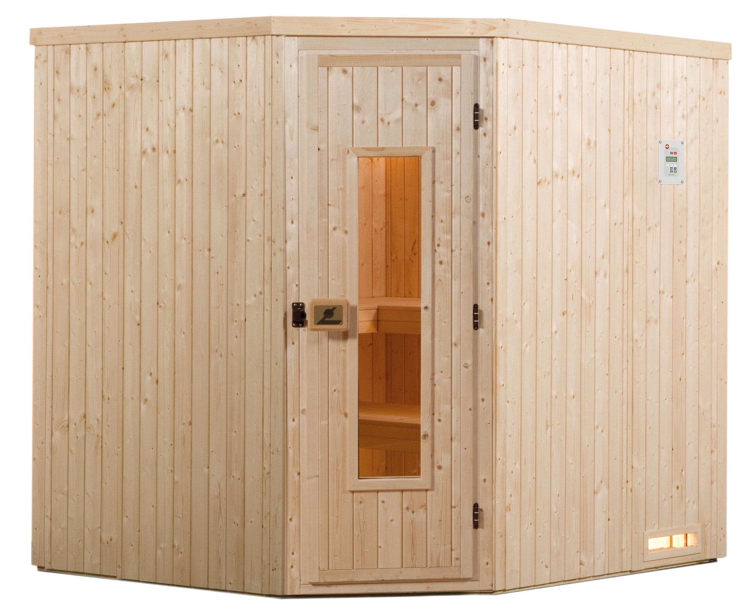 Weka Sauna Varberg 3 68mm ohne Saunaofen mit Holztür Bild 1