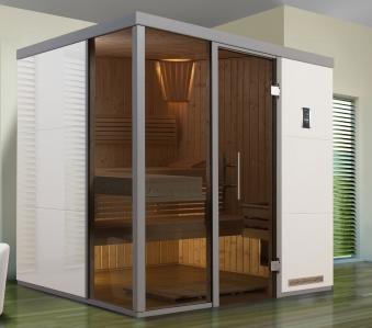 Weka Sauna / Wellnissage Designsauna I L Bianco 68mm ohne Saunaofen Bild 1