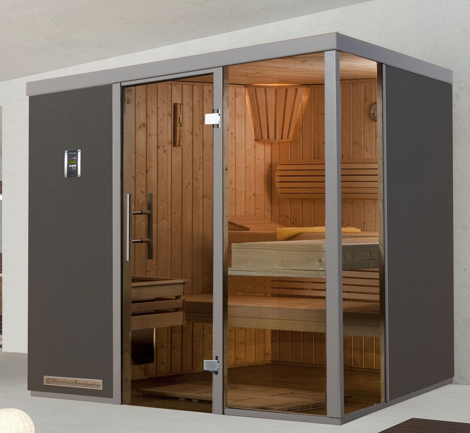Weka Sauna / Wellnissage Designsauna II R Grigio 68mm ohne Saunaofen Bild 1