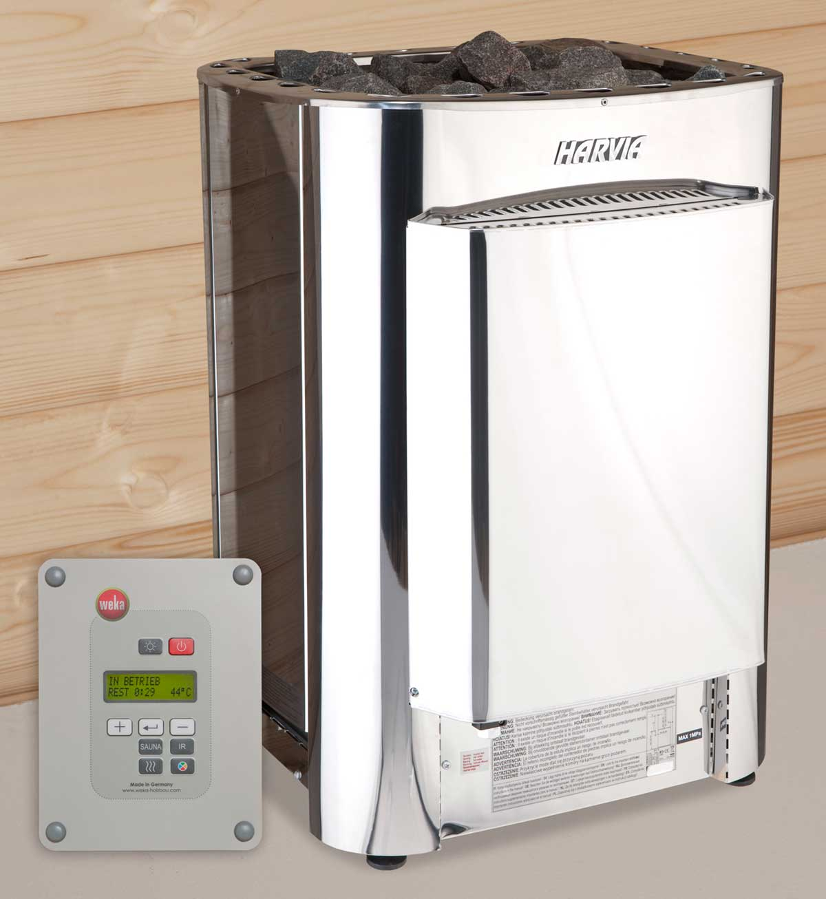 Weka Saunaofen Profi BioS 11 kW mit digitaler Steuerung Bild 1