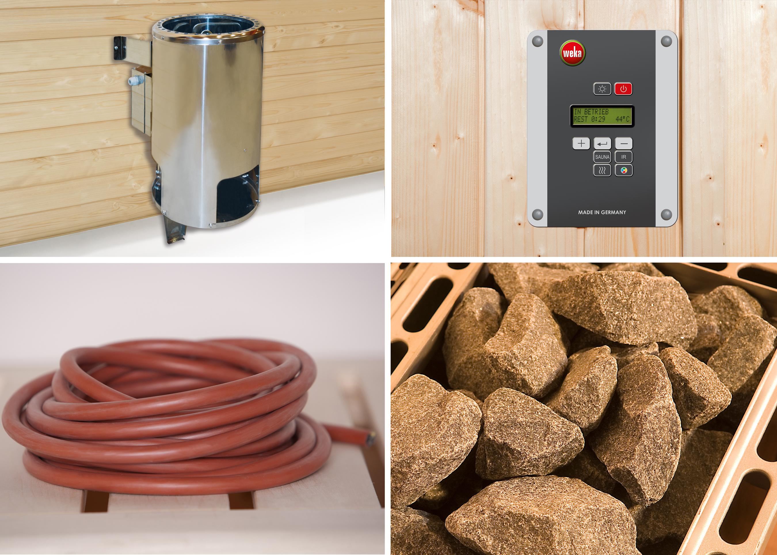 Weka Saunaofen Set 1 Klassik 3,6kW mit digitaler Systemsteuerung Bild 1