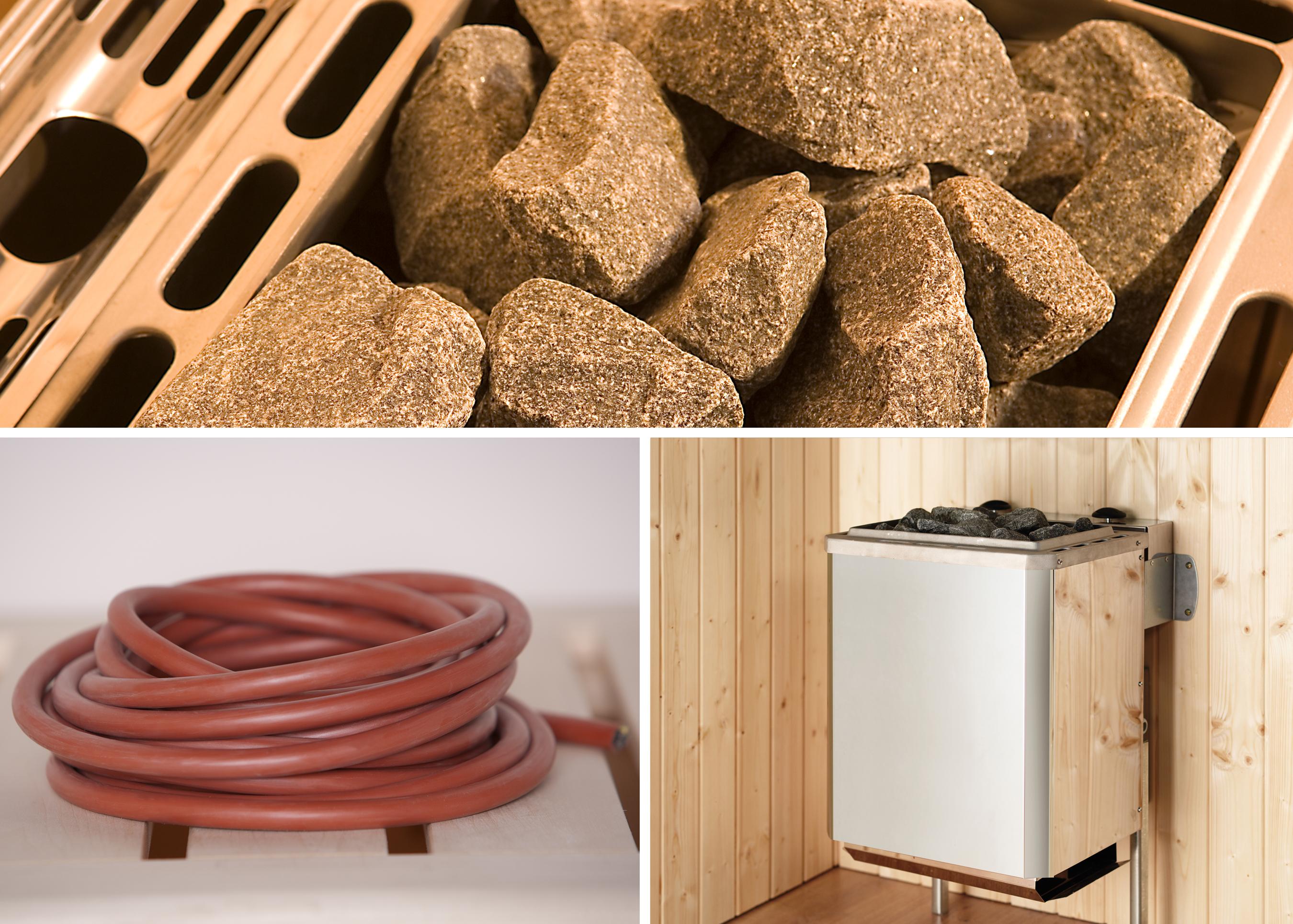 Weka Saunaofen Set 11 Kompakt 9kW mit integrierter Steuerung Bild 1
