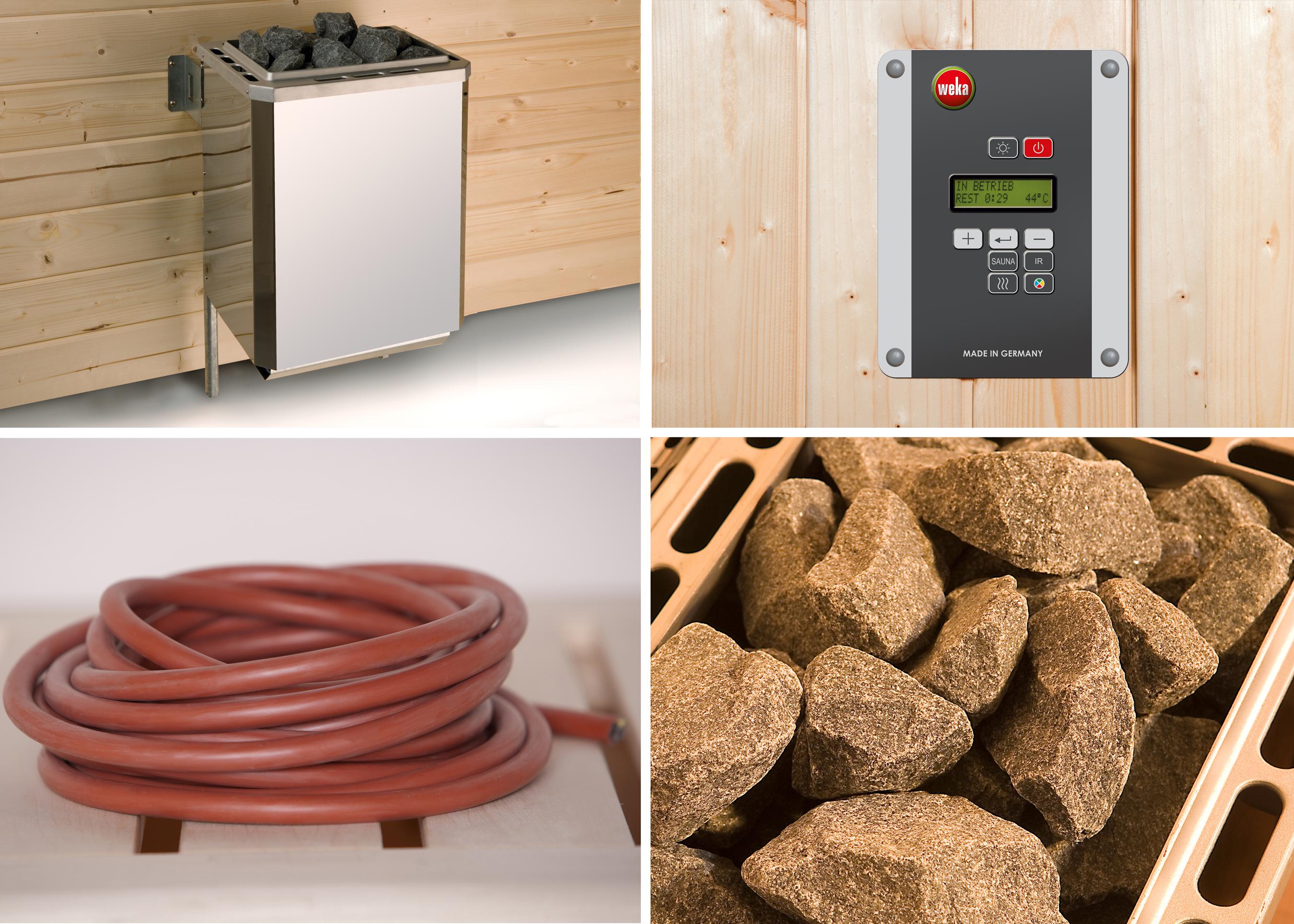 Weka Saunaofen Set 8 BioAktiv 9kW mit digitaler Steuerung Bild 1