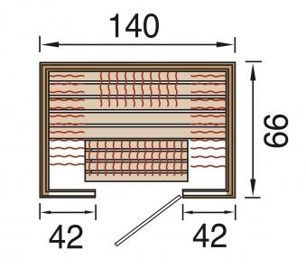 Weka Wärmekabine / Infrarotkabine Osby 1 58mm Flächenstrahler Bild 2