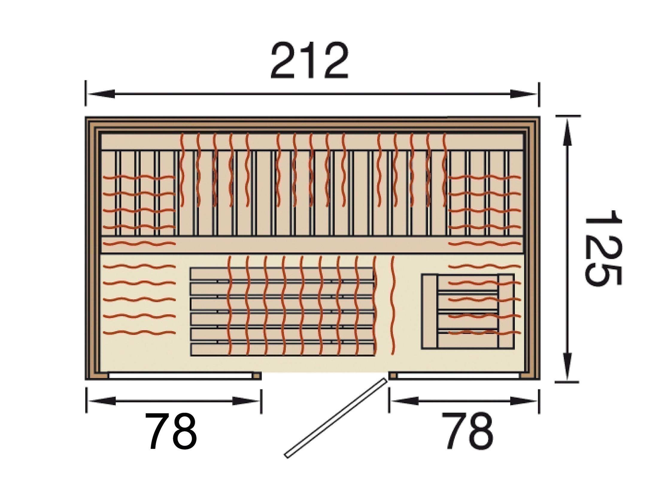 Weka Wärmekabine / Infrarotkabine Osby 2 68mm Flächenstrahler Bild 2