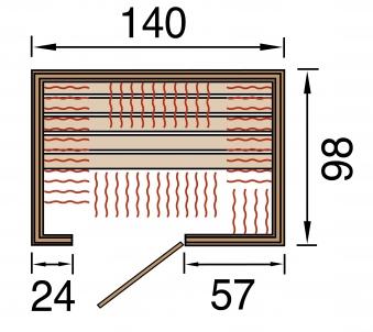 Weka Wärmekabine / Infrarotkabine Ranua 2 Flächenstrahler Bild 2