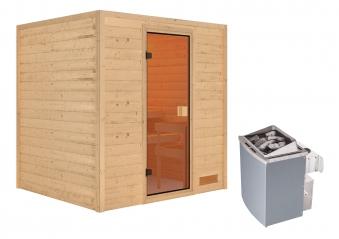 Woodfeeling Sauna Adelina 38mm Saunaofen 9kW intern Bild 6