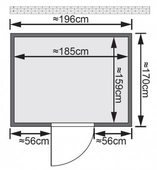 Woodfeeling Sauna Anja 38mm ohne Ofen Classic Tür Bild 2