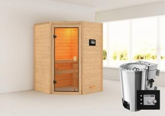 Woodfeeling Sauna Antonia 38mm 230V Bio Saunaofen 3,6 kW extern Bild 1