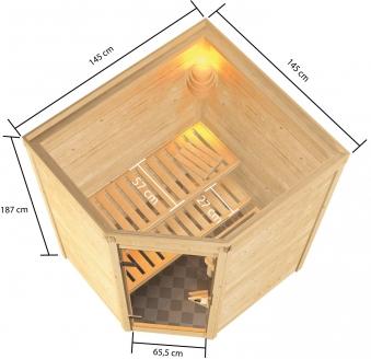 Woodfeeling Sauna Antonia 38mm Saunaofen 9 kW intern Bild 9