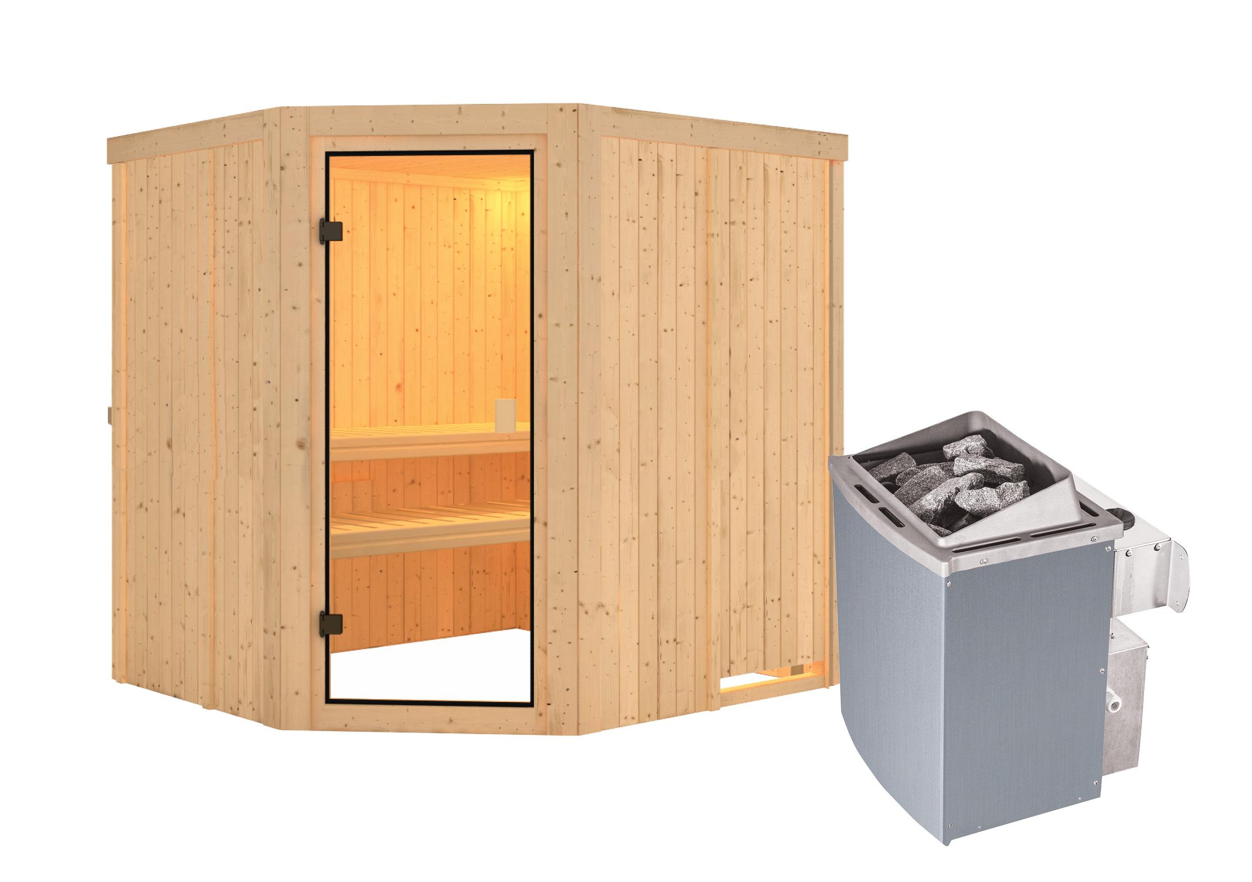 Woodfeeling Sauna Bodo 68mm Saunaofen 9kW intern Bild 11