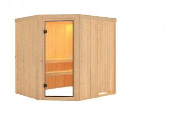 Woodfeeling Sauna Bodo 68mm ohne Saunaofen Bild 8