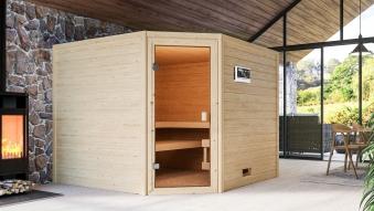 Woodfeeling Sauna Dalia 38mm Bio Saunaofen 9 kW extern Bild 6