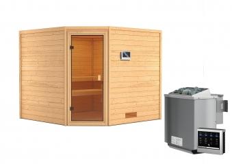 Woodfeeling Sauna Dalia 38mm Bio Saunaofen 9 kW extern Bild 10