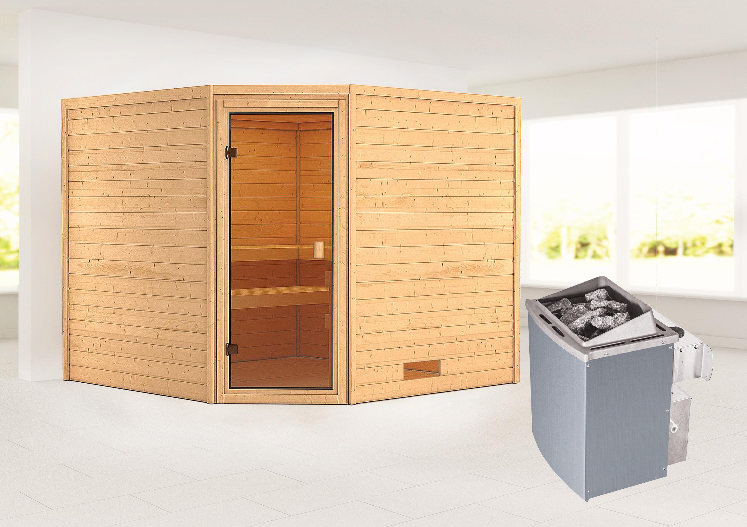 Woodfeeling Sauna Dalia 38mm Saunaofen 9 kW intern Bild 1