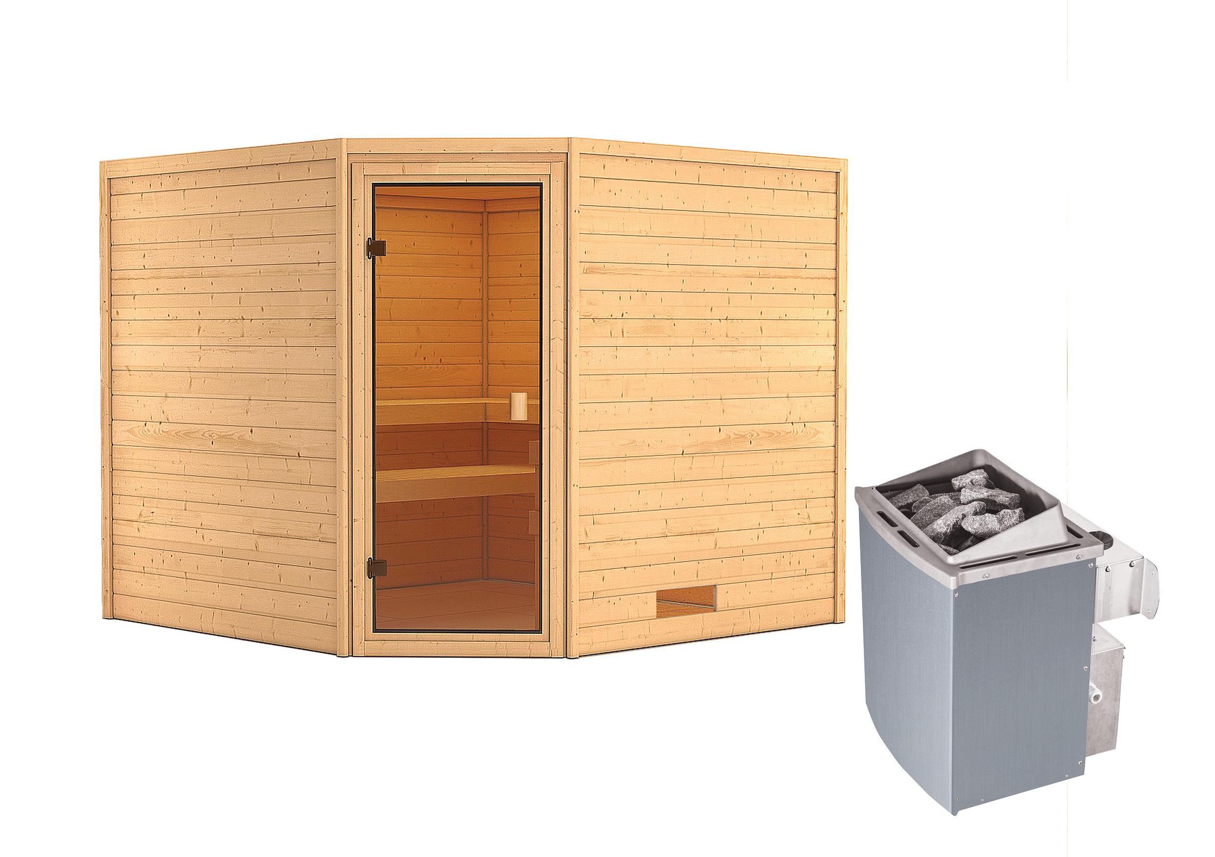 Woodfeeling Sauna Dalia 38mm Saunaofen 9 kW intern Bild 9