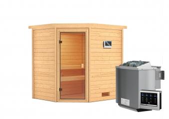 Woodfeeling Sauna Elea 38mm Bio Saunaofen 9kW extern Bild 8