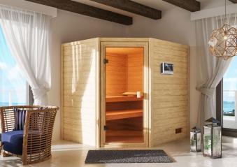 Woodfeeling Sauna Elea 38mm Bio Saunaofen 9kW extern Bild 9