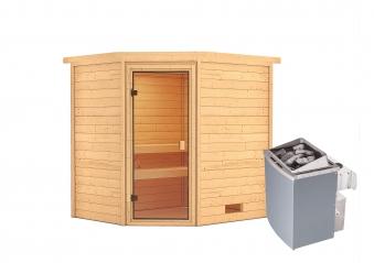 Woodfeeling Sauna Elea 38mm Saunaofen 9kW intern Bild 9