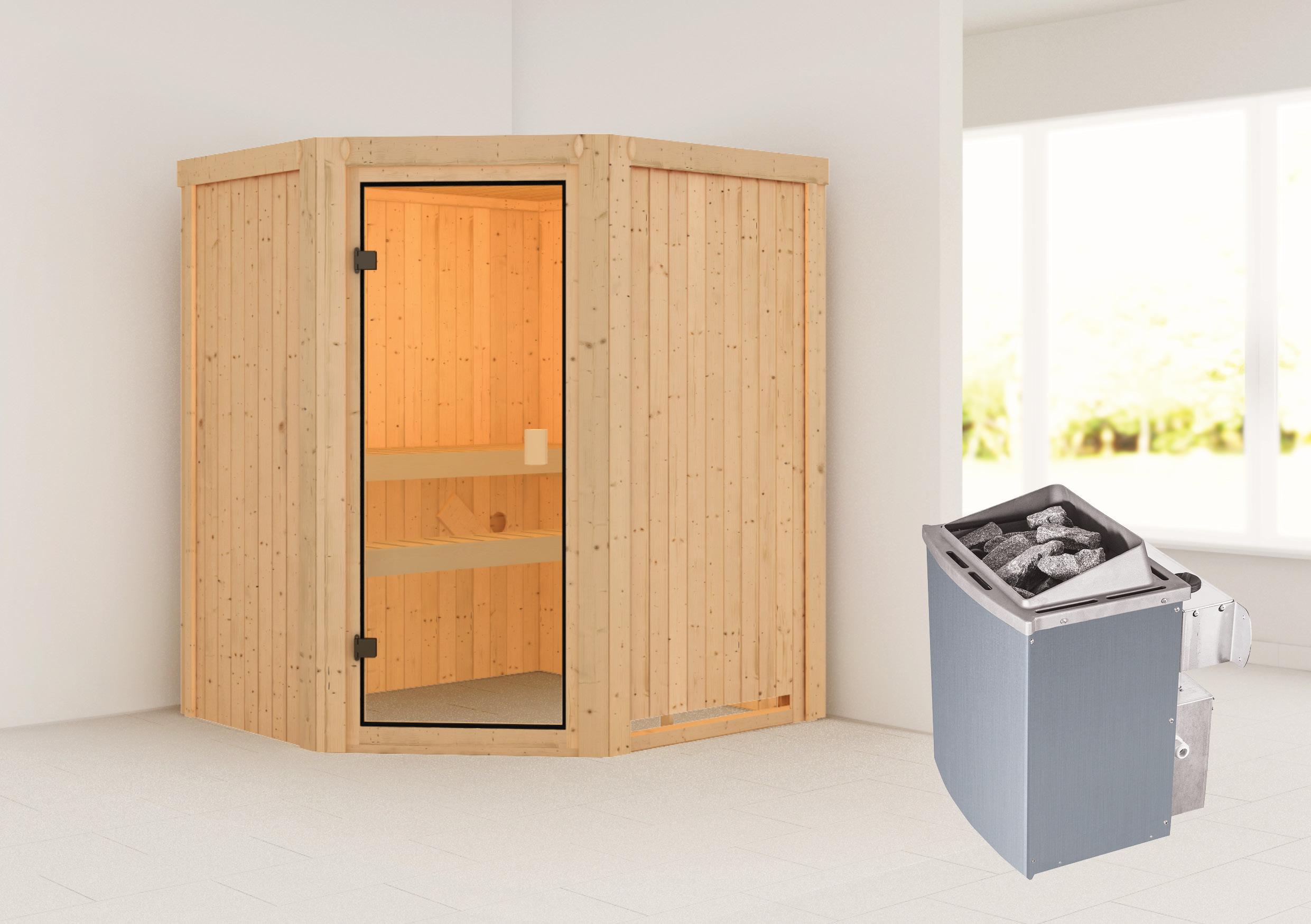 Woodfeeling Sauna Faurin 68mm Saunaofen 9kW intern Bild 1